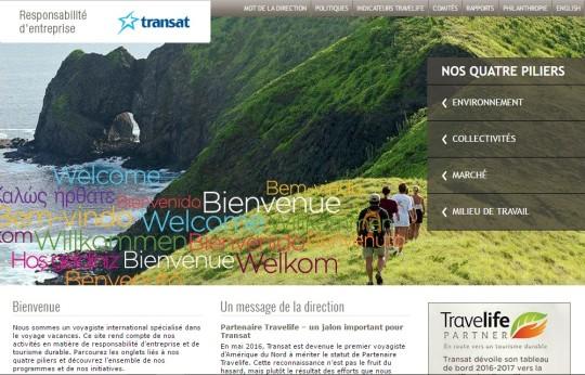 Transat France, 1er Tour-opérateur français certifié Travelife